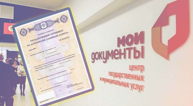 """Центр """"МОИ ДОКУМЕНТЫ"""" и сертификат на МК"""